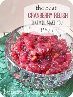 Easy Cranberry Relish Recipe that is so delicious!