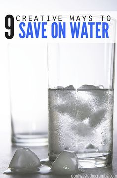 Really awesome budget tips in this post on creative ways to save on water! Living in a drought, conserving water is important. Living on a budget, it's a necessity! This is the sequel to the original 7 ways to water the garden for free, since the growing season is over - but there's still money to save! Proven money saving tips to save on water and trim the bill! :: DontWastetheCrumbs.com