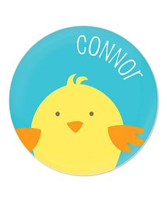 Look what I found on #zulily! Blue Chick Personalized Plate #zulilyfinds