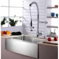 "I love this sink! Found it at Wayfair - Tromelin 33"" Farmhouse Kitchen Sink & Faucet Set"