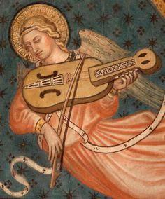 Bowed key fiddle/nyckelharpa Italy: Siena (Siena-Kapelle), Taddeo di Bartoli c 1406-1412