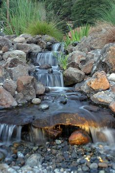 Preparing a waterfall in the backyard is a costly and laborious job. A backyard waterfall is often as big as desired. If you want to get the waterfall to appear natural, be certain to remove a great deal of dirt, recessing the waterfall into the ground. Backyard Water Feature, Ponds Backyard, Garden Pool, Backyard Ideas, Pond Ideas, Backyard Designs, Garden Oasis, Garden Trellis, Easy Garden