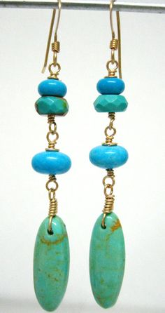 The birth stone of December is Turquoise. I used turquoise from Arizona and China. I love turquoise!