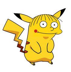ralph wiggum simpsons pikachu