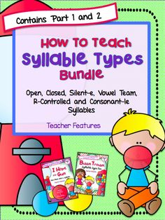 """Without a strategy for chunking longer words into manageable parts, students may look at a longer word and simply resort to guessing what it — or altogether skipping it.  This Bundle contains 2 Syllable packs-  """"I Hope For Gum"""" and Bubble Trouble""""     You will find Activities, Anchor Charts and     Games for the following Syllable Types inside: - Closed - Silent-e - Open - Vowel Team - R-Controlled - Consonant-le"""