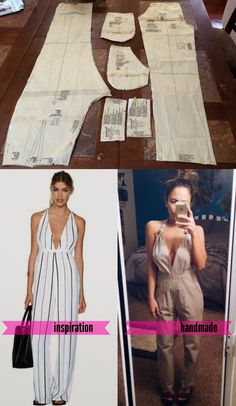 Nasty Gal Inspired Jumpsuit - DIY Sewing Inspiration! Turn any pants or shorts into a romper / playsuit with leftover fabric // mccalls simplicity pattern // open back plunging halter pants shorts romper  via thebeetique.blogspot.com