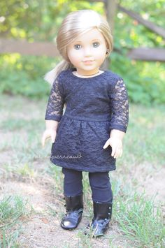 Dress and pants by Anick's Boutique and boots are AG brand. American Girl