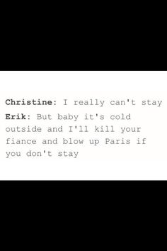 Christine and Erik in a nutshell