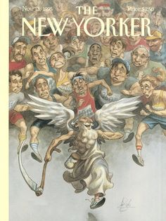 "The New Yorker - Monday, November 13, 1995 - Issue # 3682 - Vol. 71 - N° 36 - Cover ""Race Against Time"" by Peter de Sève"