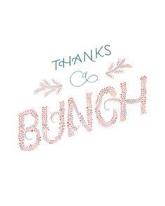 Thanks a bunch | @ohkittylo