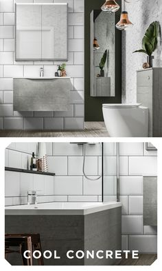 A nod to industrialism, Halo in Cityscape can add a cool urban feel to your bathroom. Industrial Bathroom Design, Bathroom Furniture, Double Vanity, Wall Mount, Halo, Urban, Cool Stuff, Ideas, Decor