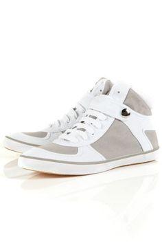toni grey hi-top trainers