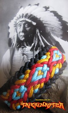 Native American Wide  Sanctified Paracord Bracelet