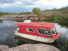The Dillengers, ole family friends, used to have one of these. It served as RV and houseboat.