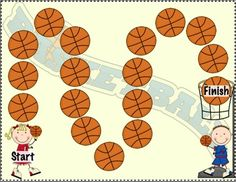Free! He/She Basketball Pronoun Freebie!  32 cards and gameboard!