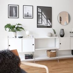 Bild från en av veckans fotograferingar för JM, så himla fin lägenhet. Nu helg! #jm #jmsverige #interiör #interiordesign… Home Decor Pictures, Living Room Pictures, String Shelf, Scandinavian Home, Mid Century Modern Design, Living Furniture, Dream Decor, Beautiful Interiors, Home Fashion