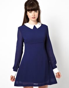 Such a cute mod dress - made from 'ethically sourced' fabric. Love the model's hairstyle too.