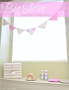 A Big-Sister Hospital Party - Celebrating Big Sister Status/Fawn  Over Baby #SiblingCelebration
