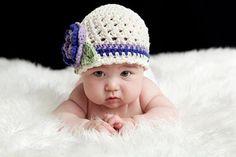 Crochet Baby Hat Infant Winter Hat Crochet Hat Girls ♥ by Karenisa, $24.00