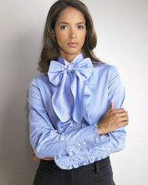 tie neck blouse - Buscar con Google