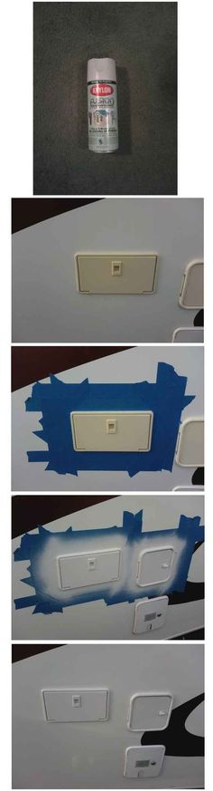 A little spraypaint will help those sun-faded plastic parts on your RV look like new again.