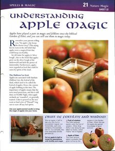 Autumn Equinox: MBSC: Understanding Apple Magick, at the Wicca Witchcraft, Pagan Witch, Witches, Wiccan Rituals, Mabon, Samhain, Magic Herbs, Eclectic Witch, Kitchen Witchery