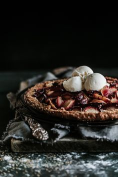 A sweet plum galette that might just change your life. Anisa Sabet   The Macadames   Food Styling   Food Photography   Props   Moody   Food Blogger   Recipes