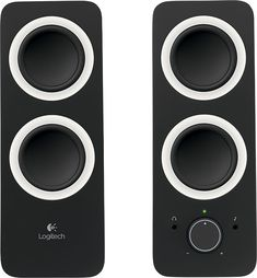 Enjoy lush audio with these Logitech multimedia speakers that feature an auxiliary input for connection of most devices with a output. Front-panel volume and power controls and a tone control wheel allow precise adjustment. Best Computer Speakers, Logitech Speakers, Laptop Speakers, Desktop Speakers, Multimedia Speakers, Stereo Speakers, Best In Ear Headphones, Sound Speaker, Powered Speakers