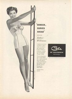 Esther Williams Cole of California Swimsuits ad 1953