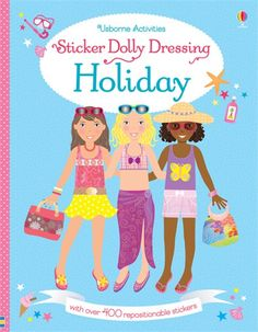 The sticker dollies are on an exciting world tour! #sticker #dolly #dressing #activity #stickerdressing #holiday #summer #travel #busy #usborne #children #book