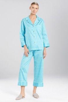 484cac819e550 Natori Fan Notch Pj Set Sea Green Printed Pajamas Small Pjs Nwt New Josie