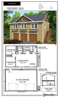 Carriage houses on pinterest carriage house carriage for 30x30 garage with apartment