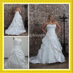 Wholesale Wedding Dresses - Buy Plus Size 2013 Feather Shiny Crystals A-Line Strapless Wedding Dresses Layers Ruffles Bridal Gowns, $146.4   DHgate