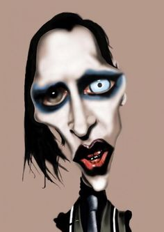 Caricatures/ Marilyn Manson/ rocker