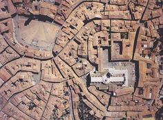 Aerial view of Siena, Italy. City From Above, New Urbanism, Earth Photos, Urban Fabric, Earth From Space, City Maps, Grand Tour, Birds Eye View, Urban Planning