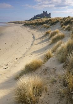 Bamburgh Castle is one of many historic sites around Northumberland, UK