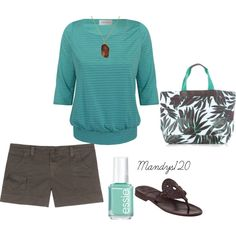 Chocolate & Teal Summer, created by mandys120 on Polyvore  - - LOVE THIS!!!