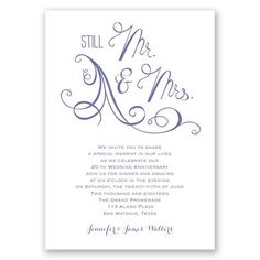 Still in love anniversary invitation wedding invitations looking for the right wedding anniversary invitation this elegant invite from invitations by dawn features stopboris Image collections