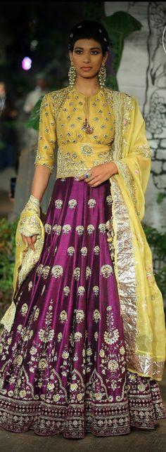 ICW 2017 - Anju Modi Sari Wedding Dresses, Wedding Dress Patterns, Bridal Dresses, Indian Dresses, Indian Outfits, Couture Week, Couture Ideas, Solis, Indian Attire
