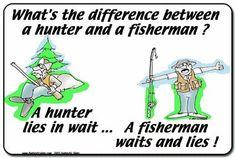 Hunting vs. Fishing