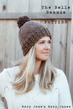 0b94c9a4aed 1 ball thick and quick The Knitted Belle Beanie   Free Pattern