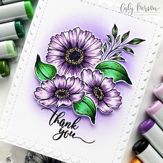 Gina K Designs – Fresh Picked Florals – Caly Person Hand Made Greeting Cards, Making Greeting Cards, How To Make Greetings, Copic Sketch Markers, White Gel Pen, Distress Oxide Ink, Marker Art, Flower Cards, Card Making