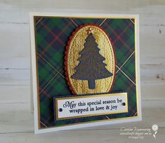 Carussell Crafts: Heart of Christmas - Week 5 Homemade Christmas Cards, Merry Christmas To All, Stampin Up Christmas, Plaid Christmas, Christmas 2019, Christmas Trees, Xmas Cards Handmade, Handmade Birthday Cards, Handmade Christmas