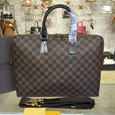 Louis Vuitton N42242 Porte Documents Jour Briefcase Damier Ebene Canvas