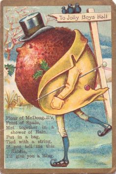 darling plum pudding victorian trade card.