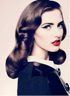 My favorite vintage hairstyle! so easy to do.. rollers in, rollers out!