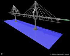 Triple tack Cable stayed Bridge v4