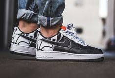 newest 53180 a63d3 Get The Nike Air Force 1 Force Logo Black White Now