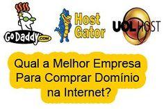 Descubra qual a melhor empresa para comprar domínio na internet, análise da Hostgator, Godaddy e Uol Host para que você saiba onde comprar domínio pelo melhor preço. http://comocriarumblognowordpress.com/comprar-dominio/qual-melhor-empresa-para-comprar-dominio-na-internet/