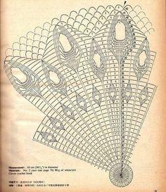 I found a napkin-peacock. - entry by marana (Наташа) (Наталья (к мне на ты))) in community Crochet in category Crochet accessories Crochet Skirt Pattern, Crochet Doily Diagram, Crochet Doily Patterns, Crochet Chart, Crochet Doilies, Crochet Girls, Crochet Home, Knit Crochet, Mantel Redondo A Crochet